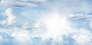 Bright sunlight in the sky